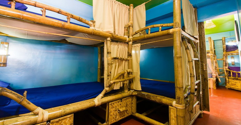 14 Bed Mixed Dorm Jeepney Hostel and Kite Resort Boracay