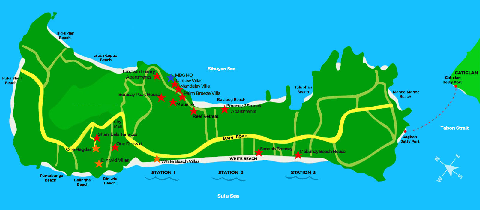 My Boracay Villa Map